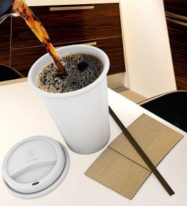 Manufacturer White Drinking Paper Cup with Lids Reusable Coffee Cups with Coffee Stick pictures & photos