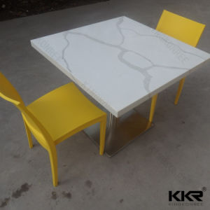 White Artificial Stone Restaurant Coffee Table pictures & photos
