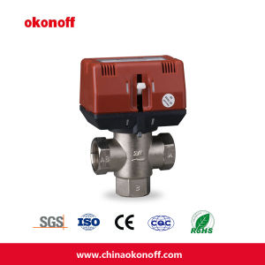 Intelligent Thermostatic Manual Switch Brass Three Way Valve (CKF3320T) pictures & photos