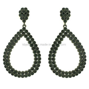 Fashion Plated Jewelry CZ Eardrop Beautiful Earrings for Lady Ke3097 pictures & photos