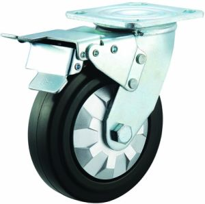 3/4/5/6/8 Inch Elastic Rubber Swivel Noiseless Castor Wheels for Trolley pictures & photos