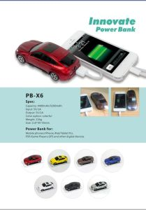 Mini Car Power Bank for iPhone/iPad/iPod 6000mAh (OM-PW139) pictures & photos