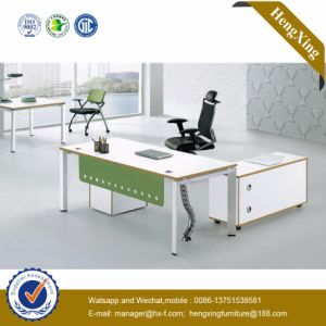 Classic L Shape Office Furniture White Melamine Office Desk (UL-NM033) pictures & photos