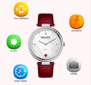 Waterproof Bluetooth Heart Rate Monitor Smart Bracelet Sport Watch Lady Analog Smartwatch pictures & photos
