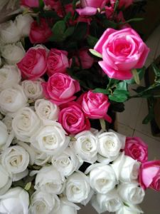 Artificial Flowers of Rose PU Material pictures & photos