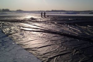 HDPE Membrane for Artificial Lake pictures & photos