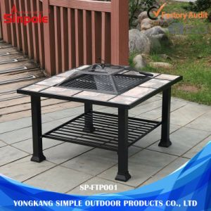2 in 1 Dust-Free Adjustable Height BBQ Fire Pit Grill pictures & photos