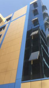 Energy Saving Invisible Frame Aluminum Structure Glass Panel Curtain Wall pictures & photos