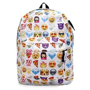 Polyester Shoulder School Book Bags Cute Girls QQ Printing Emoji Backpack pictures & photos