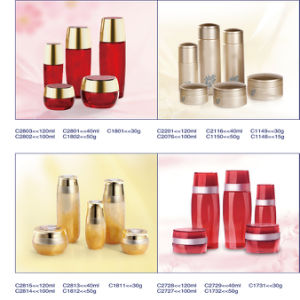Luxury Factory-Direct Price Glass Jars and Bottles Packaging Cosmeticswith Water-Drop Lid pictures & photos
