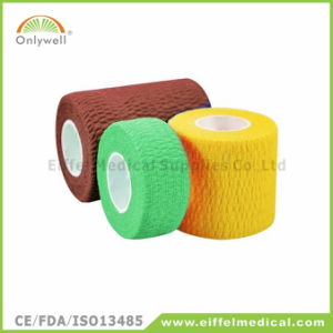 2016 Hot Sales Colorful Medical Sport Self-Adhesive Cohesive Bandage pictures & photos
