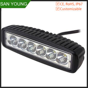 18W LED Work Light Bar 1530lm 12V DC for Turcks pictures & photos
