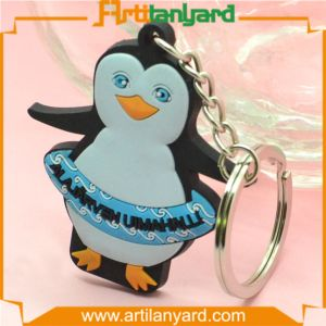 Customized PVC Keychain for Penguin Logo pictures & photos