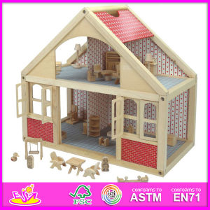 2014 New Kids Wooden Doll House Toy, Popular Lovely Children Wooden Doll House, Beartiful Princess DIY Wooden Doll House W06A039 pictures & photos
