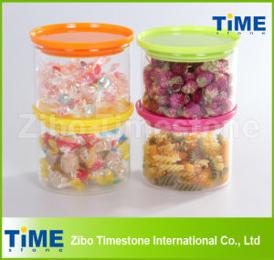 High Borosilicate Glass Sealed Cans with Plastic Lid pictures & photos