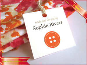 Apparel Paper Hang Tags with Cotton String Tape pictures & photos