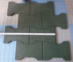 Outdoor /Recycle Rubber Tile, Anti-Fatigue Mat, Interlocking Floor Tiles
