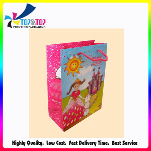 Happy Girl Glossy Paper Cosmetic Shopping Bag pictures & photos