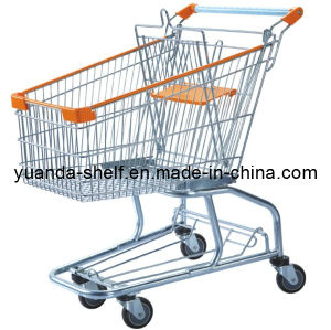 American Style Supermarket Metal Shopping Folding Trolley Cart pictures & photos