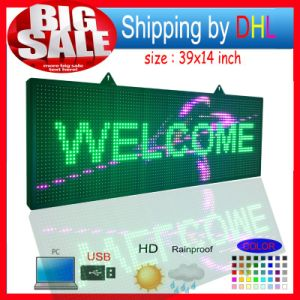 LED Scrolling Sign Message Display /P10 Full Color RGB Outdoor LED Advertising Display pictures & photos