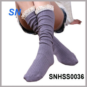 2015 Hot Sell Latest Fashion Lace Boot Socks pictures & photos