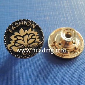 Fabric Metal Shank Button with Garment pictures & photos
