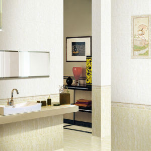 White Anti Slip Polished Porcelain Floor Bathroom Tiles pictures & photos