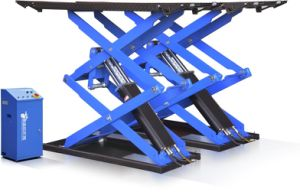 Super Thin Scissor Car Lift in Surface Mounting