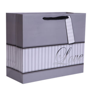 Silver Stamping Wedding Paper Bag, Paper Shopping Bag, Paper Gift Bags pictures & photos