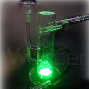 New Style Galss Hookah with LED and Leather Case pictures & photos