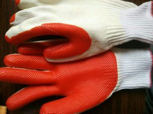 T/C Shell Laminated Latex Palm Coated Protective Safety Work Glove (S8001) pictures & photos