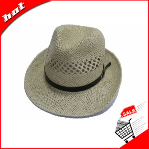 Paper Straw Fedora Women Customed Panama Hat pictures & photos