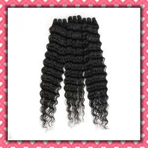 Wholesale Price Peruvian Hair Deep Wave 24inches Natural Color pictures & photos