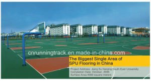 Shock Absorption Silicon PU Sports Flooring Approved by Iaaf pictures & photos