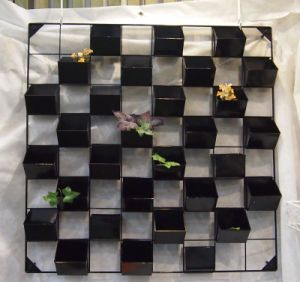 Metal Wall Planter with 30 Plastic Pots in 8X8 Grids, Wp-a-4