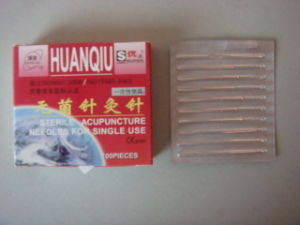 0.30X15mm Acupuncture Needle Without Tube, Copper Handle - Huanqiu Brand pictures & photos