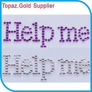 Help Me Rhinestone Sticker Self Adhesive Acrylic Gem Sticker pictures & photos