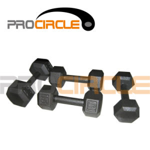 Black Painting Solid Hex Dumbbell (PC-DU3028-3036) pictures & photos