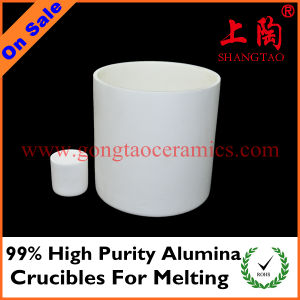 99% High Purity Alumina Crucibles for Melting pictures & photos