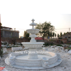 White Carrara Stone Sculpture Marble Fountain (SY-F001) pictures & photos