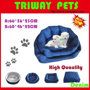 High Quaulity Denim Snuggle Dog Bed (WY161025A/B) pictures & photos