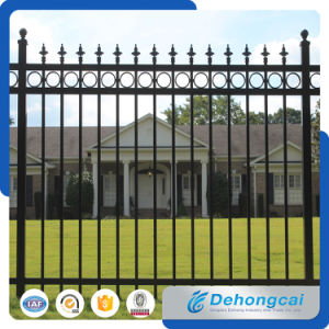 High Quality Metal Picket Fences / Security Wrought Iron Garden Fence