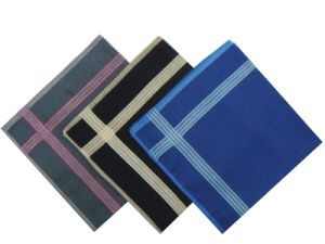 Woven 100% Cotton Pocket Handkerchief pictures & photos