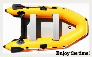 Yellow 0.9mm PVC Versatile Inflatable Boat for Fishing and Recreation pictures & photos