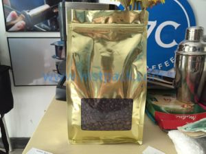 Flat Bottom Coffee Bag De-Metallized with Window pictures & photos