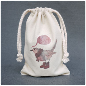 Canvas Drawstring Bag (FLYFB002) pictures & photos