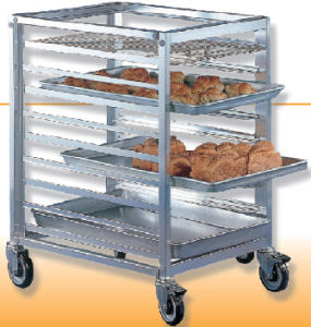 Aluminum Service Trolley Cart for Hotel and Restaurant (SN1997) pictures & photos
