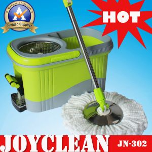 Joyclean Strong Water Aborbtion Green Mop Bucket with Stainless Steel Disc (JN-302) pictures & photos