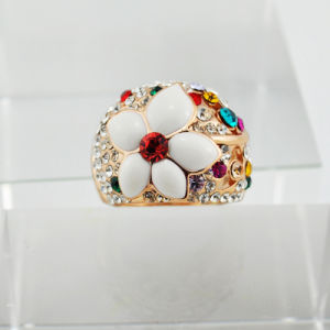 Alloy Extended Finger Ring Decorated with Colorful Stones (FR9365)