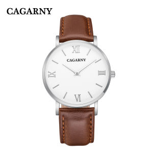 6812 Silver Case Roman Leather Wrist Watch for Men and Women pictures & photos